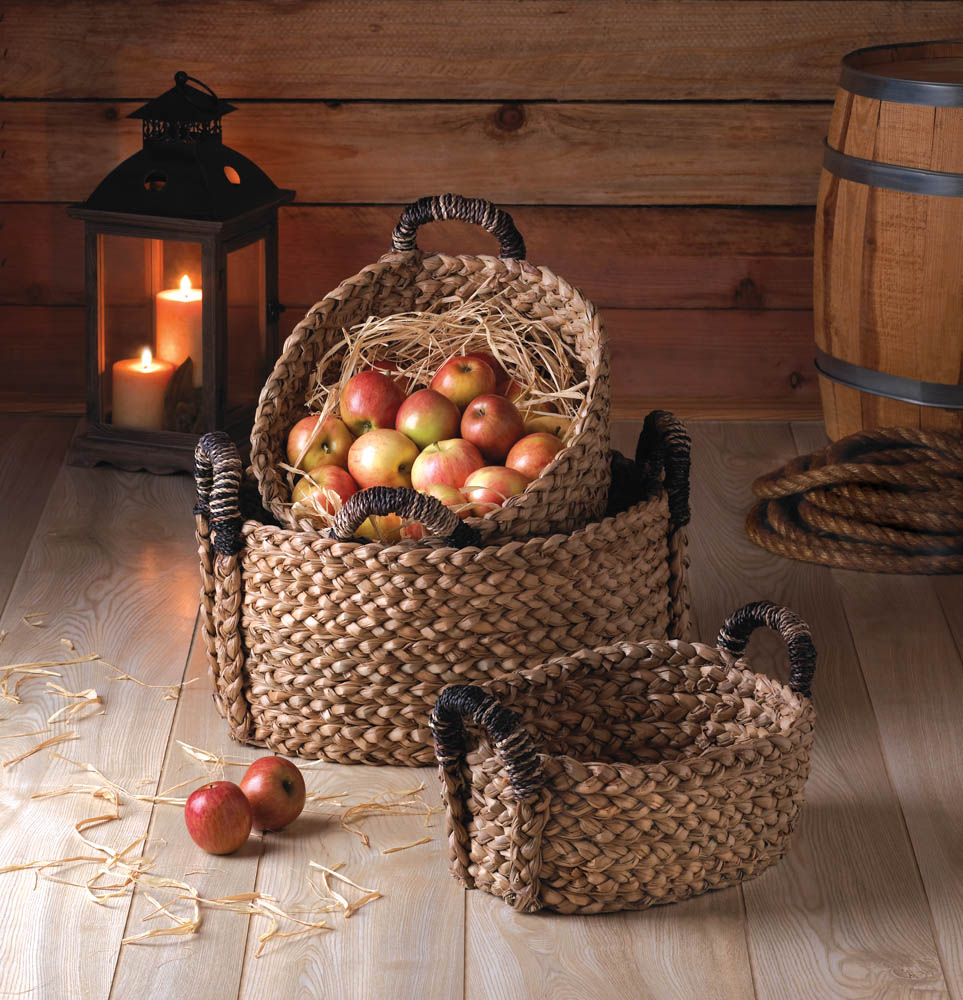 RUSTIC WOVEN NESTING BASKETS 3-PIECE SET 10015231