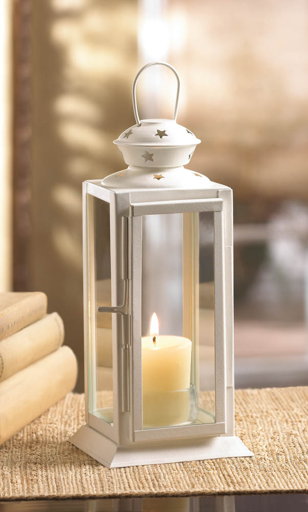 STARLIGHT WHITE CANDLE LANTERN 10015419