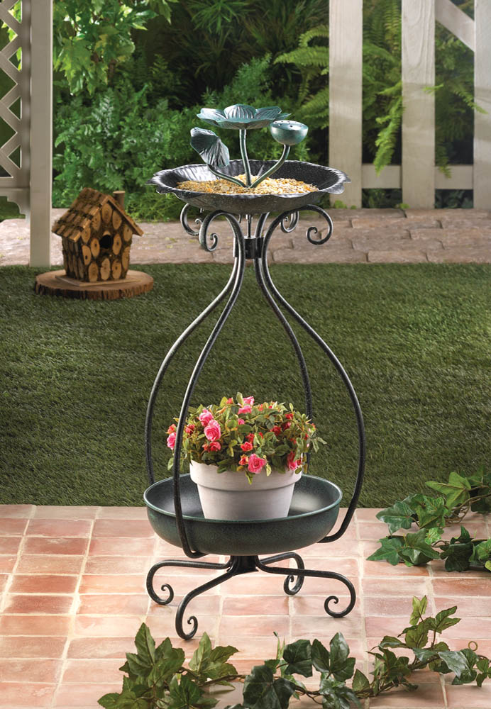 BIRD FEEDER AND PLANT STAND 10015693