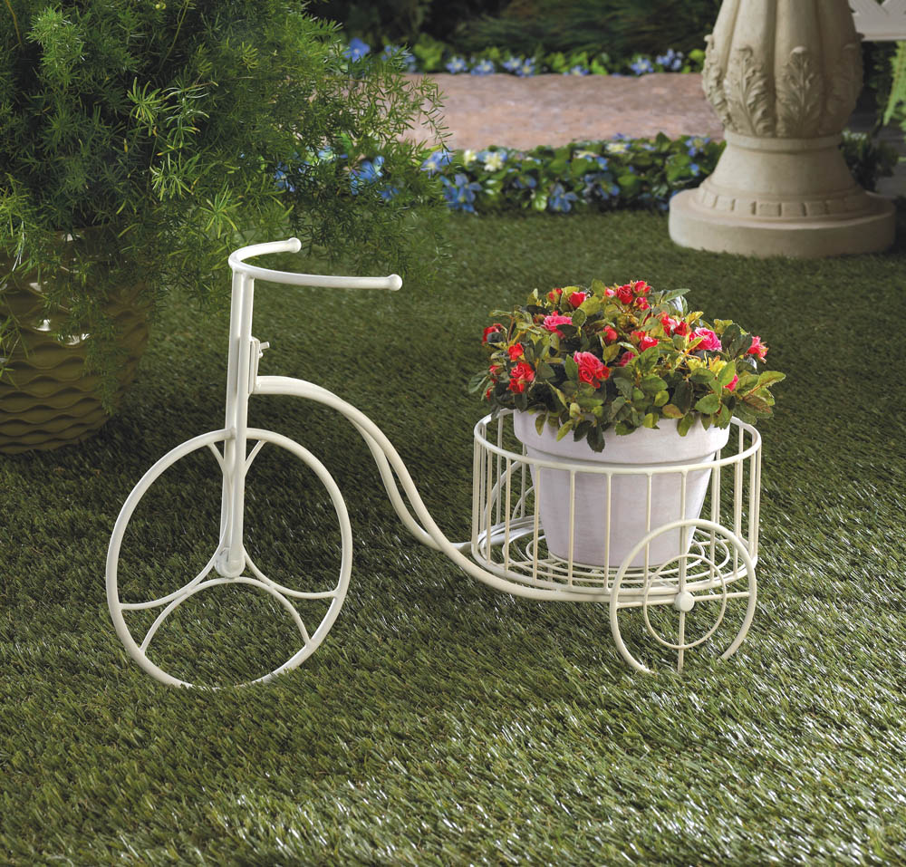 WHITE TRICYCLE PLANT DISPLAY 10015694