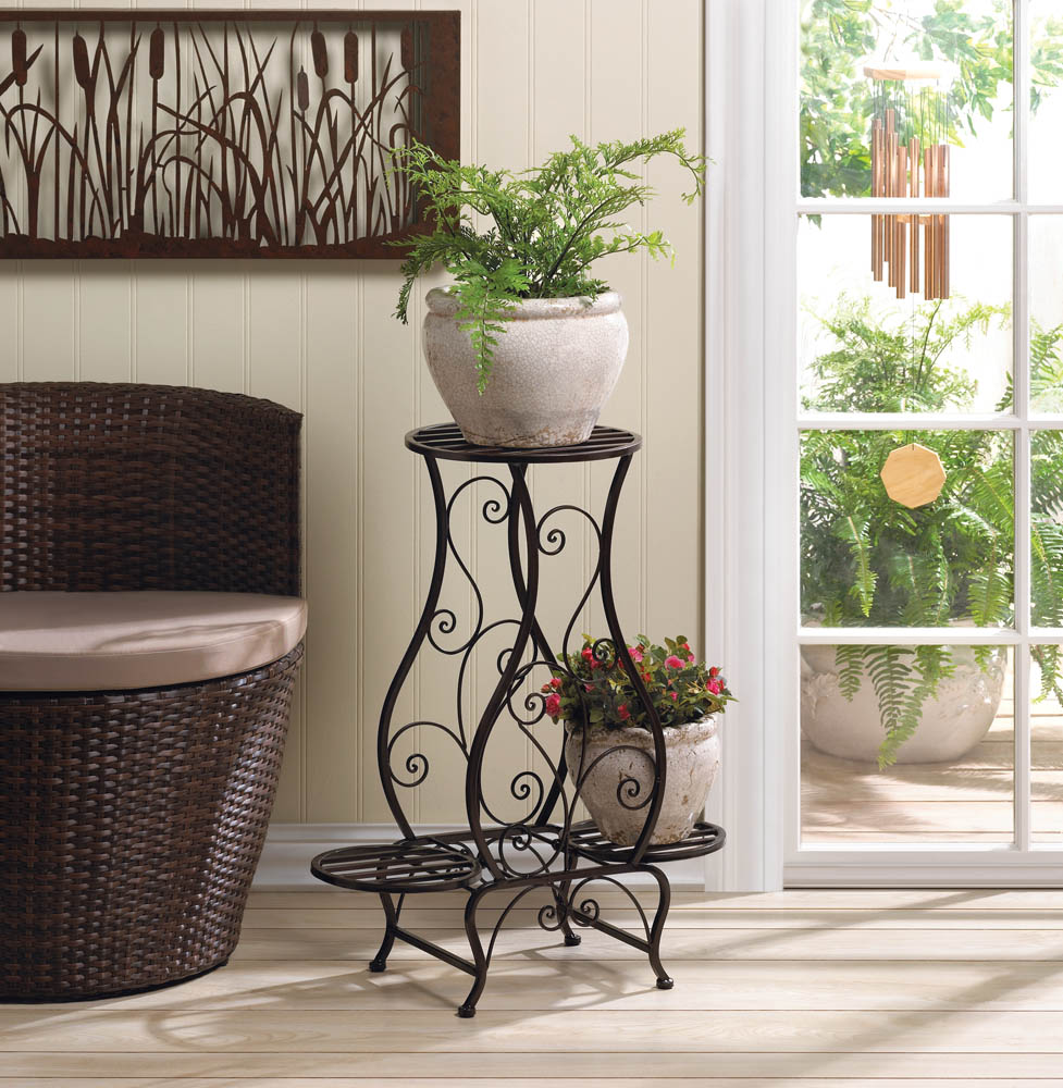 HOURGLASS TRIPLE PLANT STAND 10015848