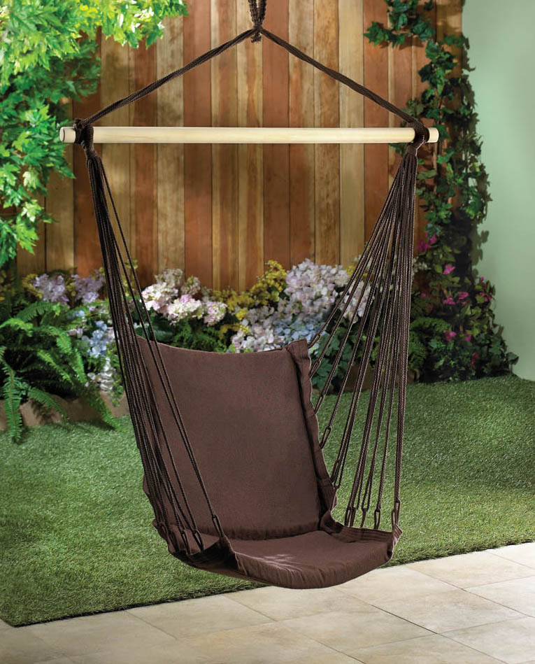 ESPRESSO COTTON PADDED SWING CHAIR  10015978