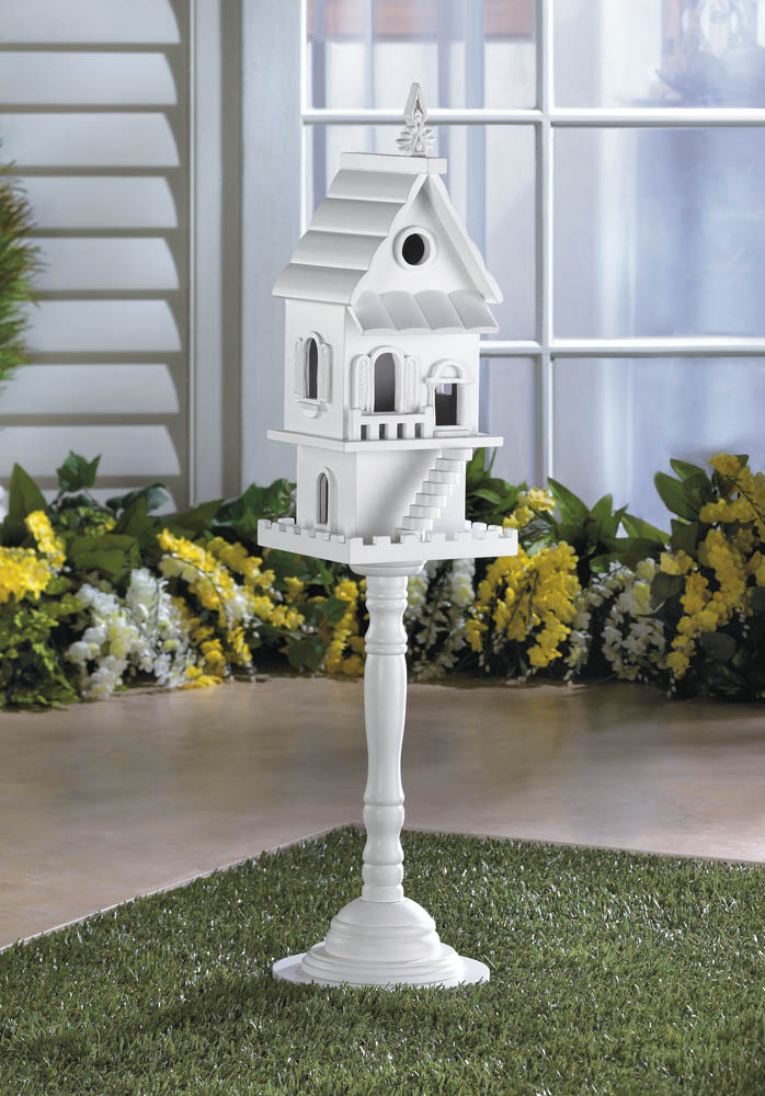 TWO STORY PEDESTAL BIRDHOUSE 10016003