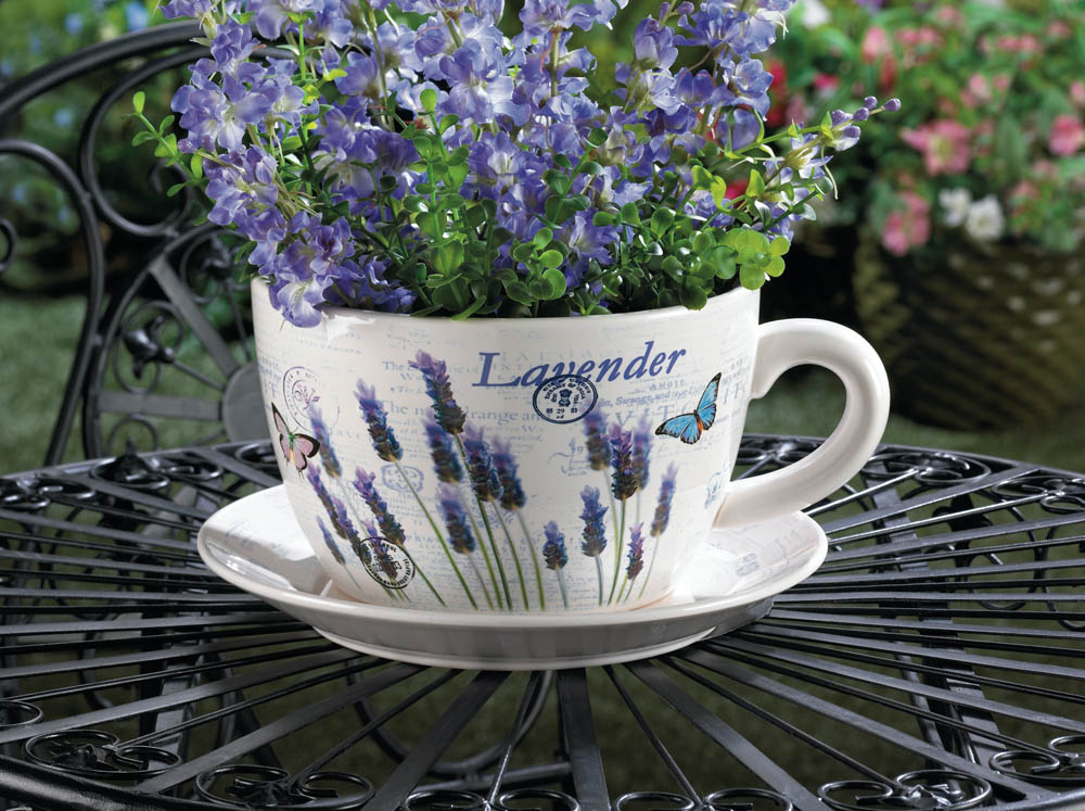 LAVENDER FIELDS TEACUP PLANTER 10016209