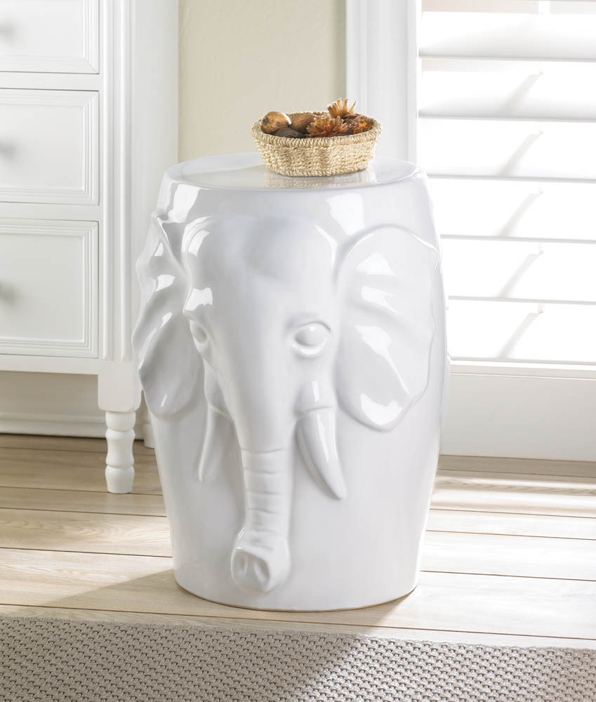 ELEPHANT CERAMIC DECORATIVE STOOL 10016509
