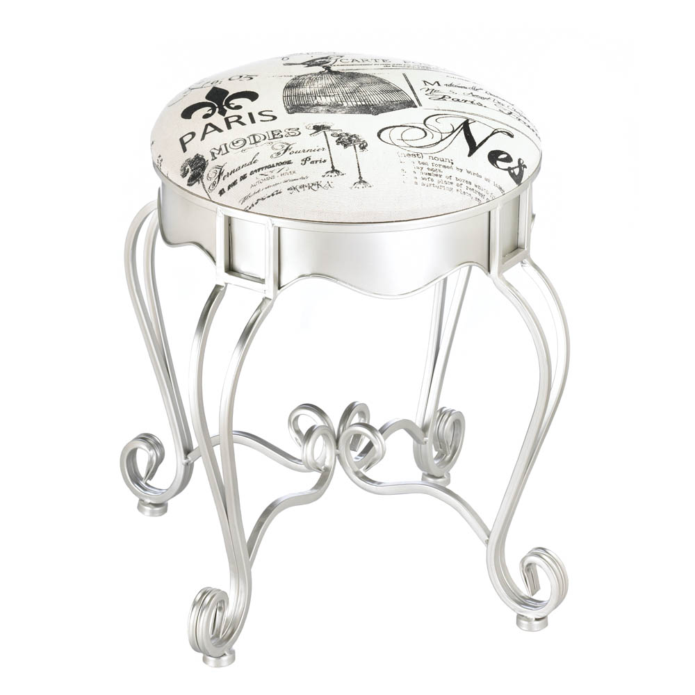 PRETTY IN PARIS METAL STOOL 10017114