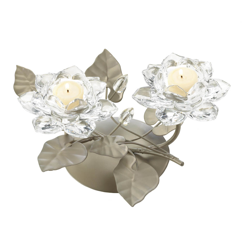 CRYSTAL FLOWER CENTERPIECE CANDLEHOLDER 10017424