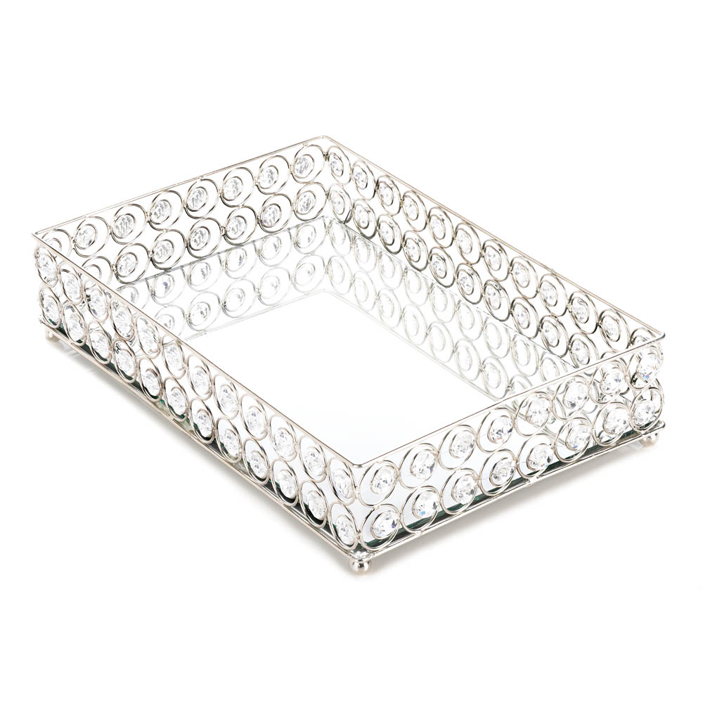 SHIMMER RECTANGULAR JEWELED TRAY 10017443