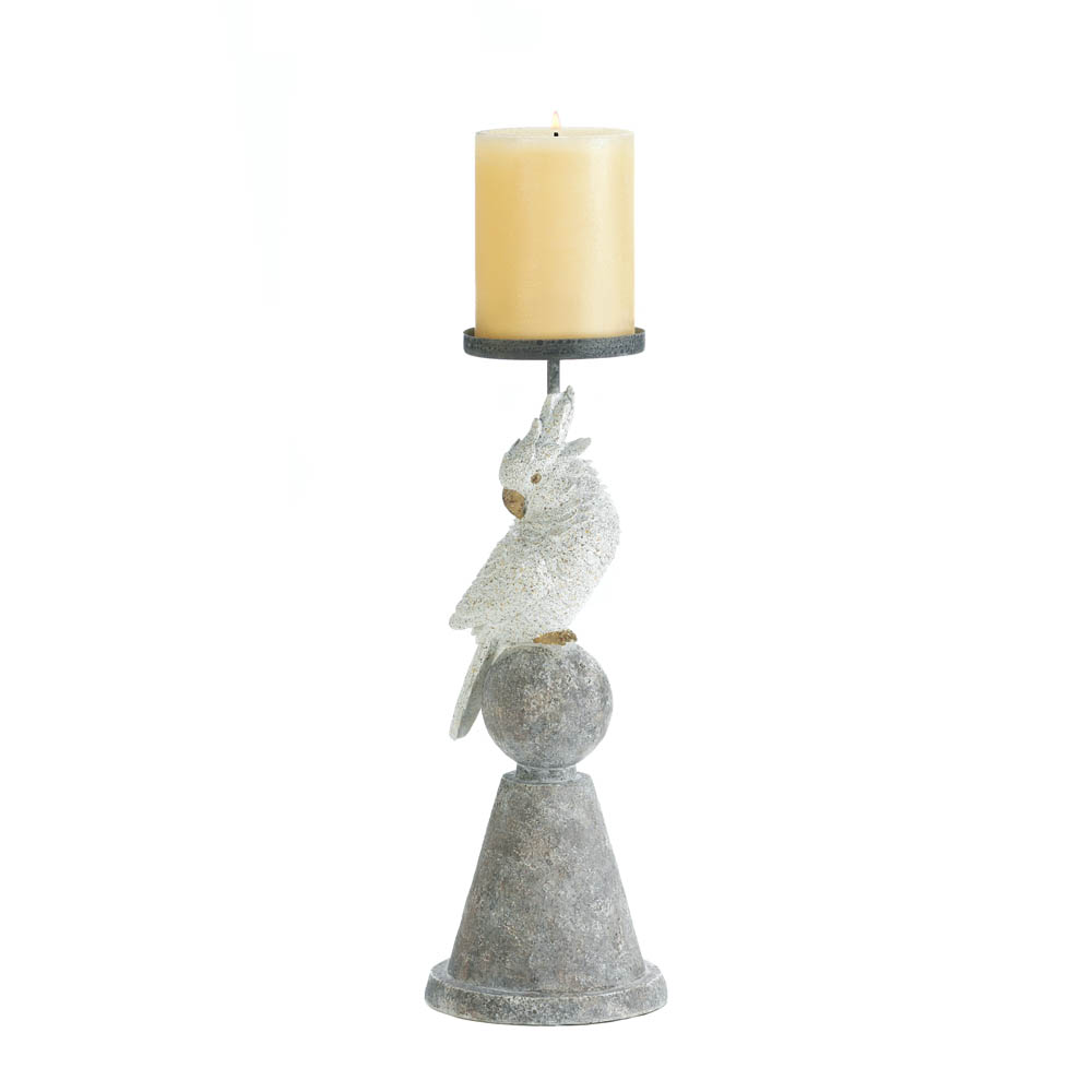 WHITE COCKATOO CANDLEHOLDER 10017836