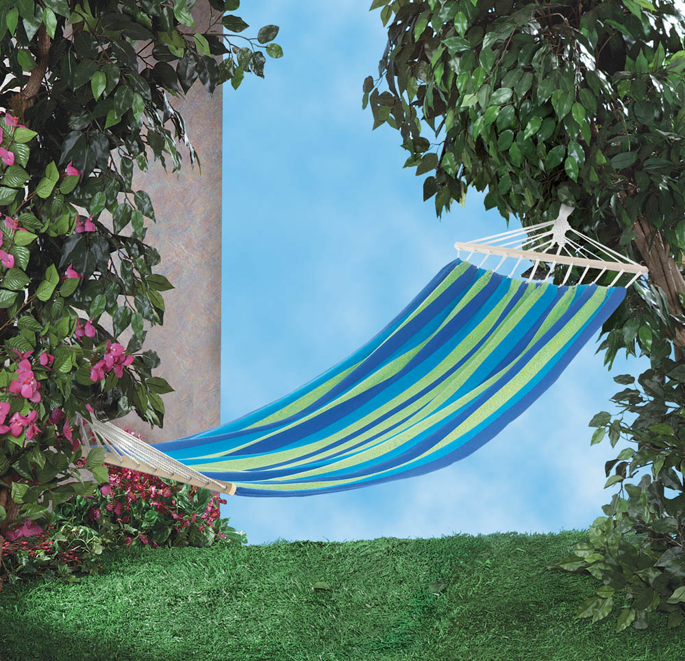 BAHAMA BLUE STRIPE SINGLE HAMMOCK 10017918