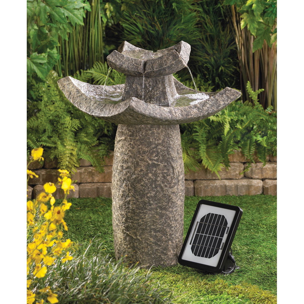 TEMPLE SOLAR WATER FOUNTAIN 10012844