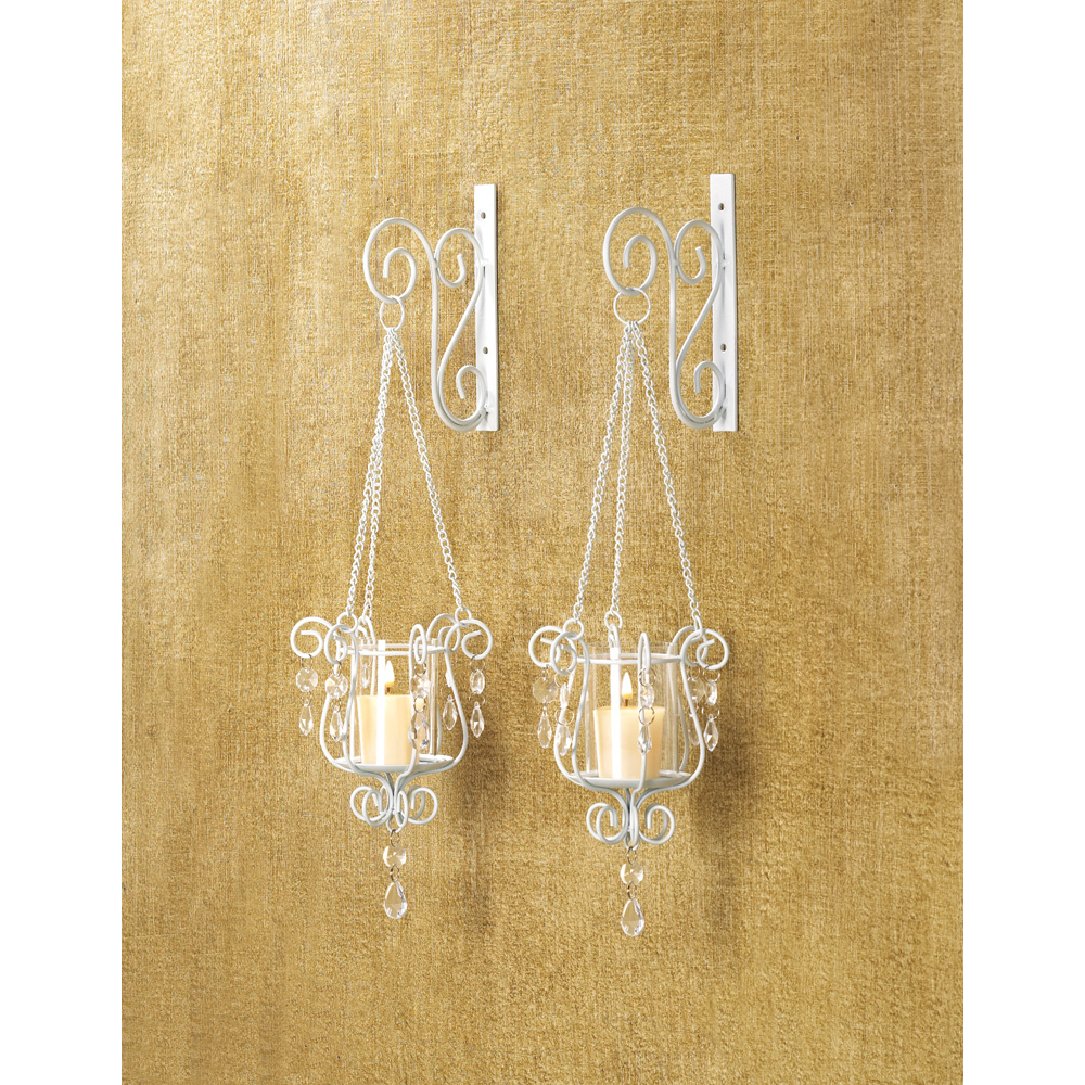 BEDAZZLING PENDANT SCONCE DUO 10014113