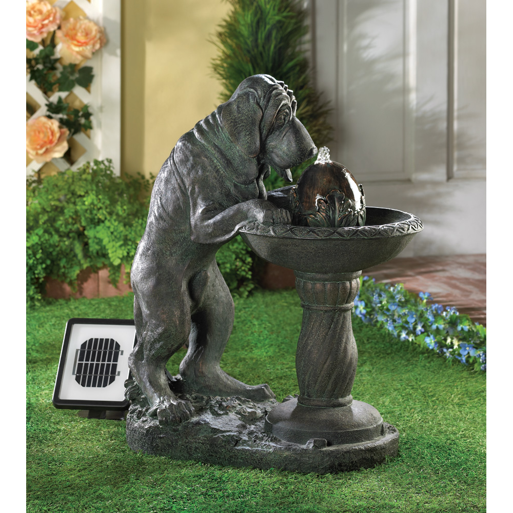THIRSTY DOG SOLAR FOUNTAIN 10014769