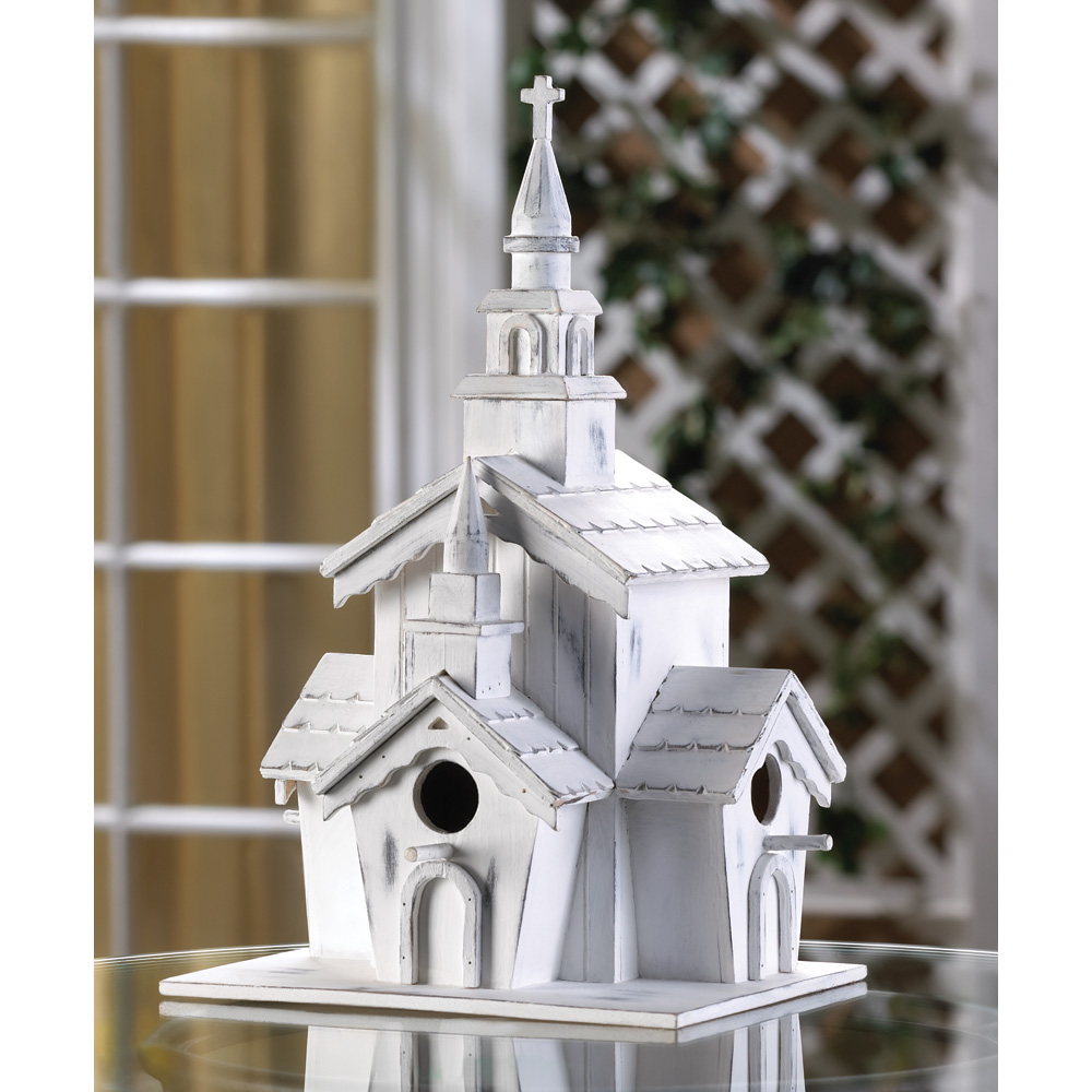 LITTLE WHITE CHAPEL BIRDHOUSE 10014778
