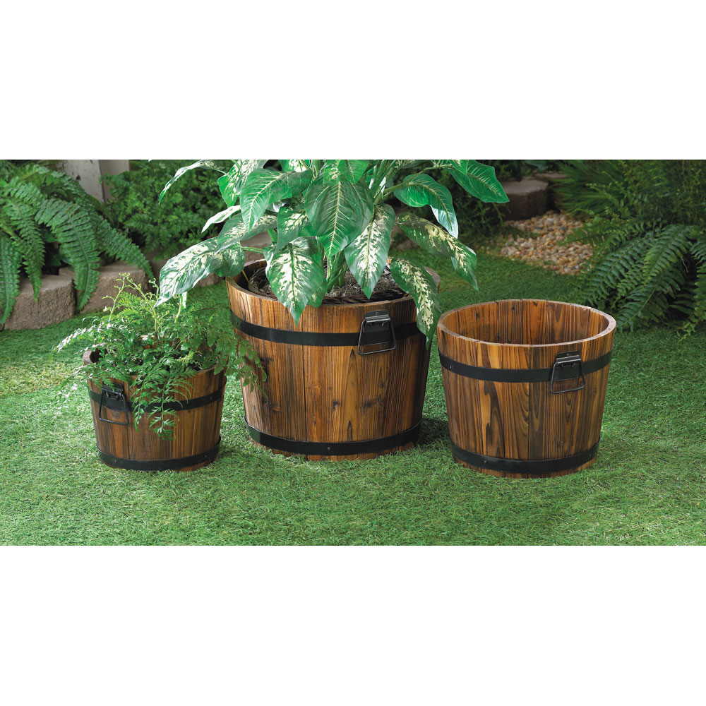 APPLE BARREL PLANTER TRIO 10015114