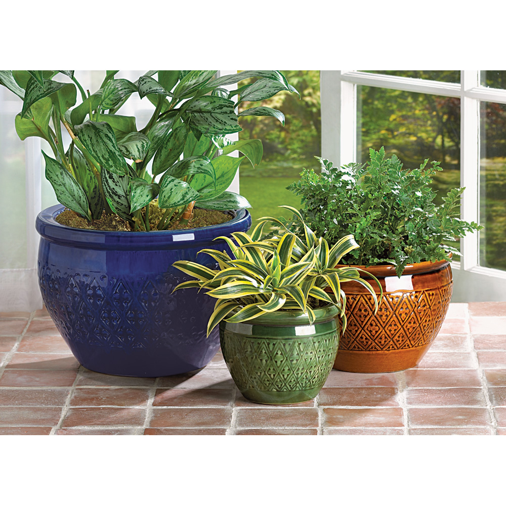 JEWEL-TONE FLOWER POT TRIO 10038899