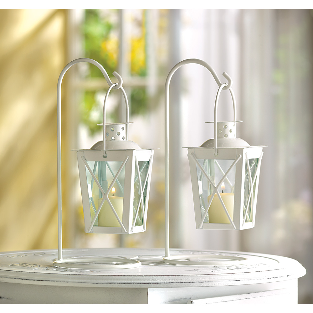 WHITE RAILROAD CANDLE LANTERNS 10039572