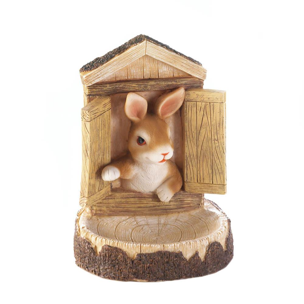 BUNNY WALL HANGING BIRD FEEDER 10017755