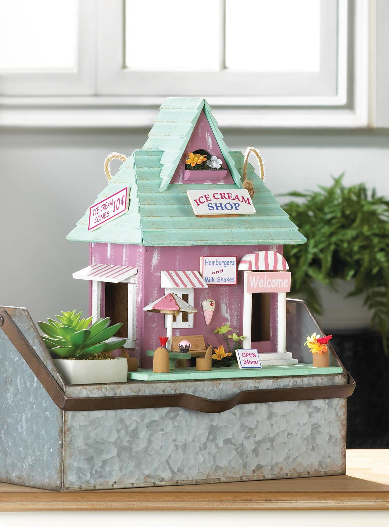 ICE CREAM SHOP BIRDHOUSE 10018683