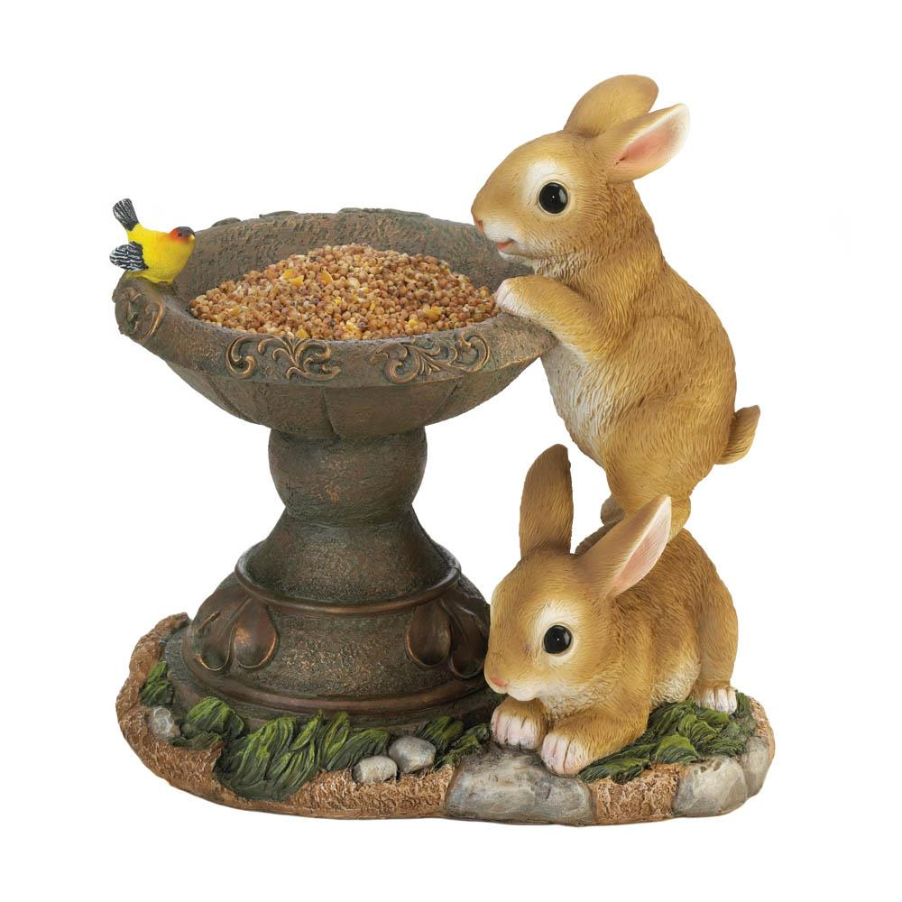 PLAYFUL BUNNIES BIRD FEEDER 10018695