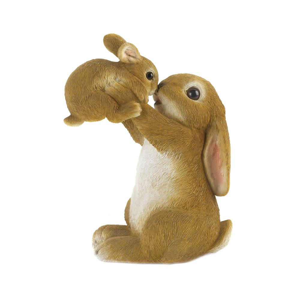PLAYFUL MOM AND BABY RABBIT FIGURINE 10018803